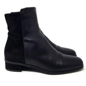 Aquatalia Ulyssa Leather & Suede Ankle Boot 6.5